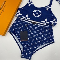 Louis Vuitton Women Fashion Halter Beach Bikini Set Swimsuit Swimwear