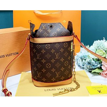 Bunchsun LV Louis Vuitton High Quality Women Fashion Shopping Bucket Bag Crossbody Satchel Shoulder Bag