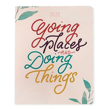 Going Places and Doing Things Planner   18 Month Planner July 2021 - Dec 2022