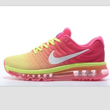 """""""NIKE"""" Trending Fashion Casual Sports Shoes AirMax section Pink yellow"""