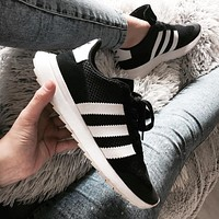 Adidas Flashback Black/White Women Fashion Trending Running Sports Shoes Sneakers