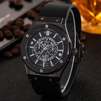 Hublot Women Men Fashion Quartz Watches Wrist Watch