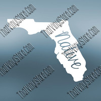 Florida Home Decal   Florida State Decal   Homestate Decals   Native Sticker   Love Decal    Car Truck Decal   Car Stickers   520