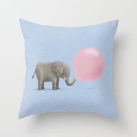 Jumbo Bubble Gum  Throw Pillow by Terry Fan