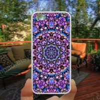 abstract lilac mandala iphone 4/4s case iphone 5/5s/5c case samsung galaxy s3/s4 case galaxy S5 case Waterproof gift case 141