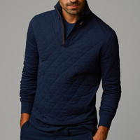 QUILTED SWEATSHIRT WITH ELBOW PATCHES - Sweaters - Sweaters & Cardigans - MEN - United States of America / Estados Unidos de América
