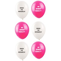 Smash the Patriarchy / Yay Gender Equality Feminist Balloons (6 Pack)