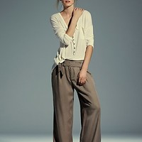 Free People Womens Camille Belted Wideleg