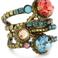 "Sorrelli  ""Tropical"" Stacked Crystal Ring"