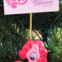 """Licensed cool 3"""" MY LITTLE PONY PINKIE PIE Pink Figural Horse ORNAMENT AMERICAN GREETINGS NWT"""