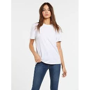 Volcom One of Each BF Tee-WHT