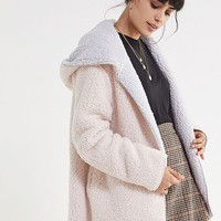 UO Carmella Cozy Reversible Teddy Coat | Urban Outfitters
