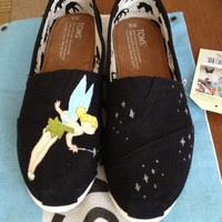 Tinkerbell Inspired Custom Painted TOMS