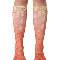 Pretzel Knee High Socks