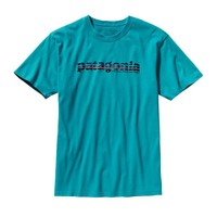 Patagonia Men's '73 Text Logo Organic Cotton T-Shirt | Tobago Blue