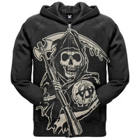 Sons of Anarchy - Large Muted Grim Reaper Zip Hoodie