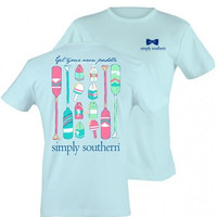 "Simply Southern ""Get Your Own Paddle"" Tee - Bubbles Blue"