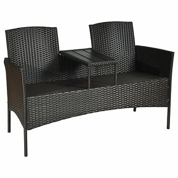 Exclusive Combo of Two Seater Patio Rattan Outdoor Furniture Set