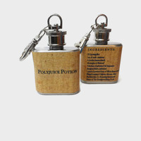Stainless Steel Hip Flask - Polyjuice Potion with Ingredients on the Back - Harry Potter Potion -4oz 6oz 2oz 1oz