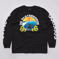 Flatspot - 3d Hawaiian L/S T Shirt Black