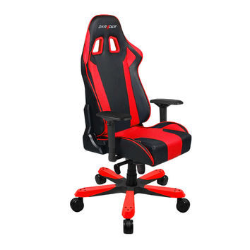DXRacer-Black & Red-Commercial Big & Tall Executive Chair-Leather High-Back Adjustable Chair-Home Deluxe Office chair-KS06NR