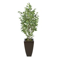 Synthetic Fabric Ficus Tree in Planter