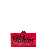 Edie Parker M'O Exclusive: Jean 'Taken' Acrylic Clutch Red