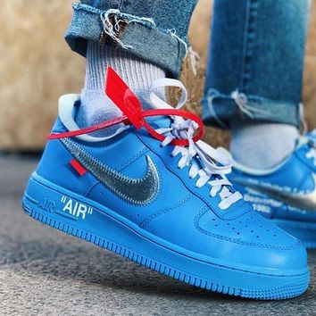 shosouvenir  Off-White xNIKE Air Force1 AF1 Men and women's shoes