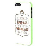Ron Swanson Quotes White iPhone 5 Case Framed Green