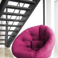 Fresh Futon Nido Convertible Futon Chair/Bed, Pink Mattress