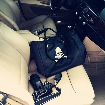 Backpack Embroidery Skull Tote Bag Shoulder Bag [415644844068]