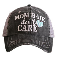 MOM HAIR DON'T CARE trucker hat, baseball hat