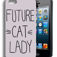 Future Cat Lady Funny Quote Iphone 4 Case