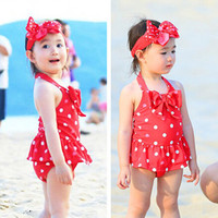 Cute Baby Girl Swimwear One Piece Swimsuit Polka Dot Swimwear Children Swimming Suit Kids Swimming Clothes Bathing Suit For Baby