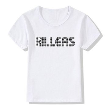 Boy and Girl Print The Killers Fashion T shirt Children Short sleeve Summer punk rock hipster Tshirts Kids Tops Tee Baby Clothes|T-Shirts
