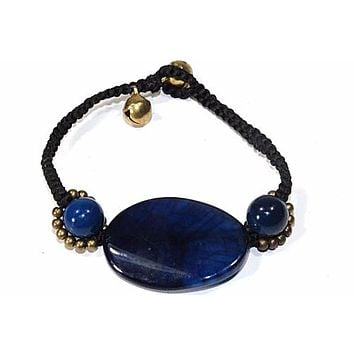 Natural Blue Agate Bracelet