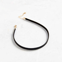 Allie Leather Choker Necklace   Urban Outfitters