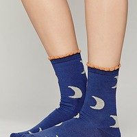 Hansel From Basel Womens Goodnight Moon Ankle Sock