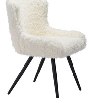 Coco Dining Chair Ivory Fur