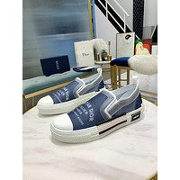 dior fashion men womens casual running sport shoes sneakers slipper sandals high heels shoes 338