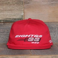 Stop Snitchin Unstructured Baseball Hat Red