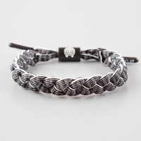 Rastaclat Highway Shoelace Bracelet Black/White One Size For Men 25463112501