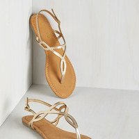 ModCloth Know Only Too Swell Sandal in Gold
