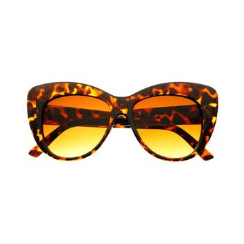 Large Retro Womens Fashion Cat Eye Sunglasses C1680