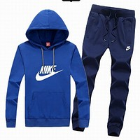 Nike tide brand men and women fashion leisure suits Blue