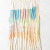 AEO Women's Soft & Sexy Graphic Tank (Toasted Coconut)