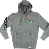 Grizzly Tye Dye G Hd/Swt Xxl-Heather Grey