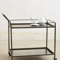 Mercury Bar Cart by Anthropologie in Black Size: One Size Furniture
