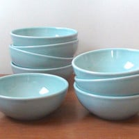 Russel Wright Iroquios Casual Soup/Cereal Bowl -- Ice Blue