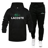 Lacoste- New Fashion Men Set Hoodies+Pants Sets Male Tracksuit Men's Casual Slim Fit Sportswear Male Brand Sweat Shirts Clothing